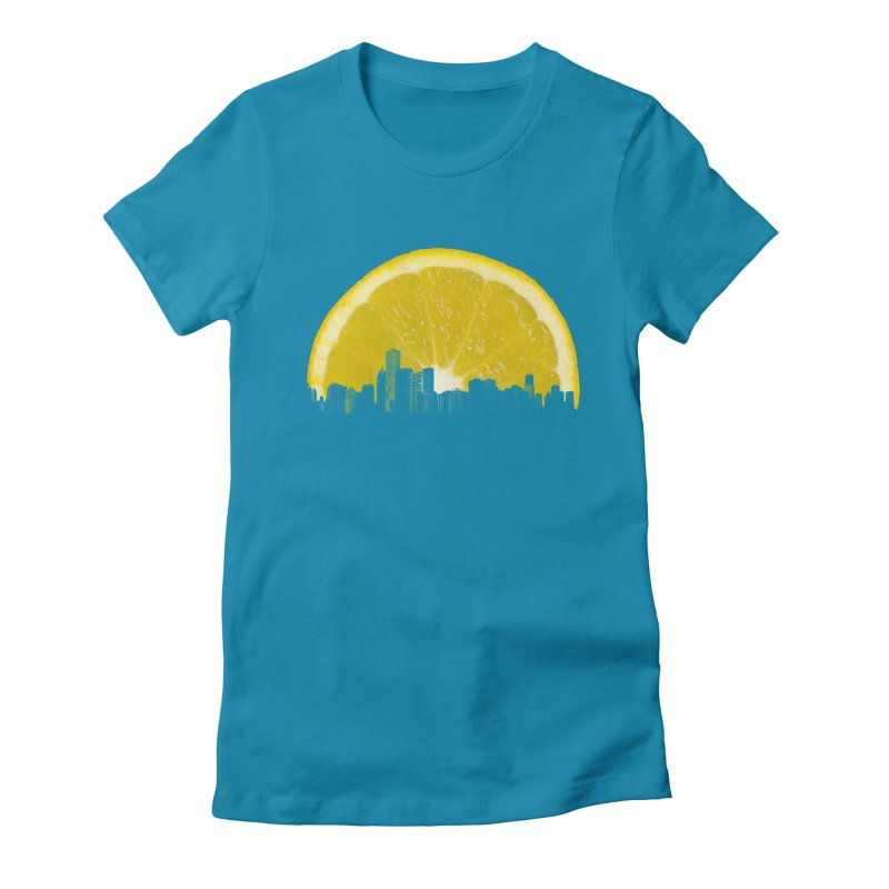 super lemon Women's Fitted T-Shirt by sustici's Artist Shop