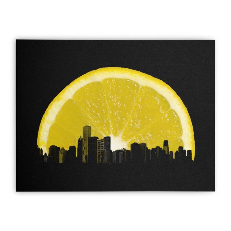 super lemon Home Stretched Canvas by sustici's Artist Shop