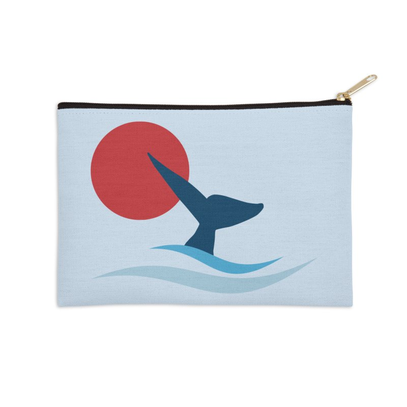 whale Accessories Zip Pouch by sustici's Artist Shop