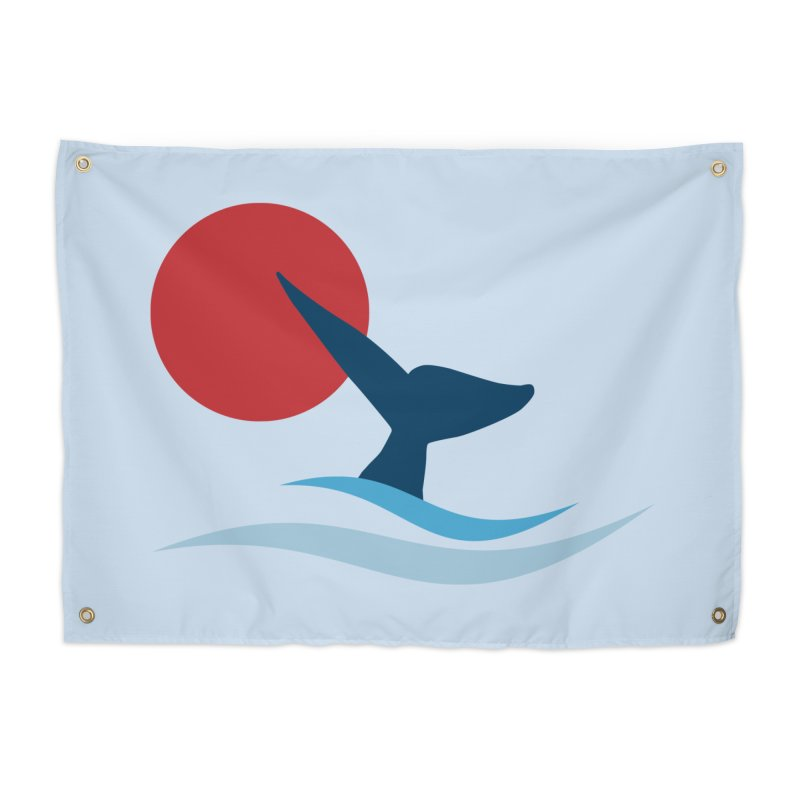 whale Home Tapestry by sustici's Artist Shop