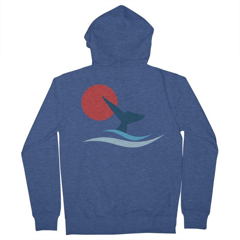 whale Women's Zip-Up Hoody by sustici's Artist Shop