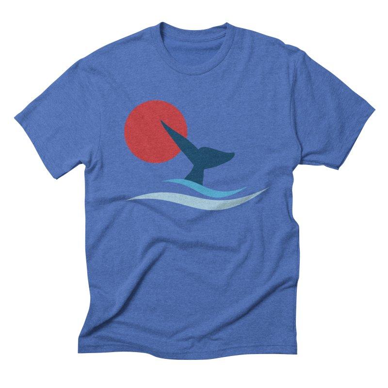 whale Men's Triblend T-shirt by sustici's Artist Shop