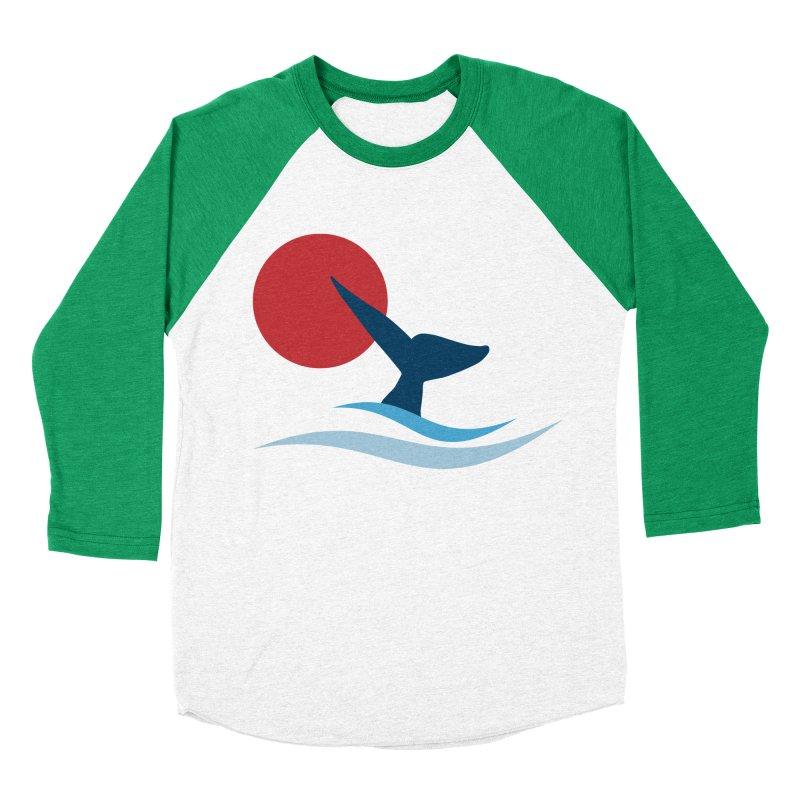 whale Women's Baseball Triblend T-Shirt by sustici's Artist Shop