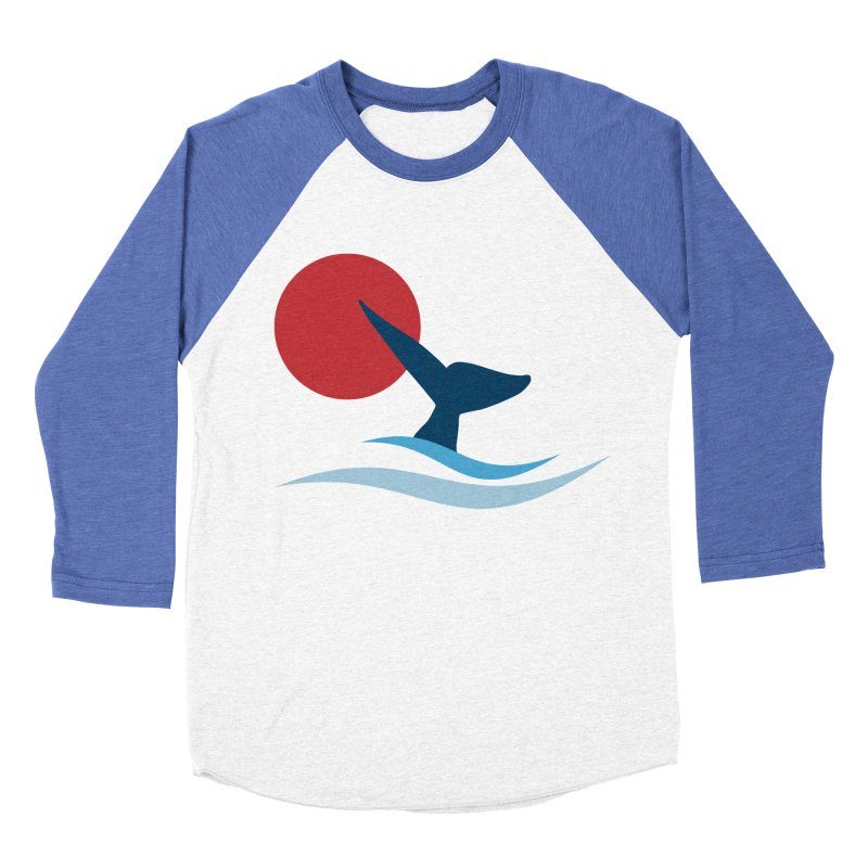 whale Men's Baseball Triblend T-Shirt by sustici's Artist Shop