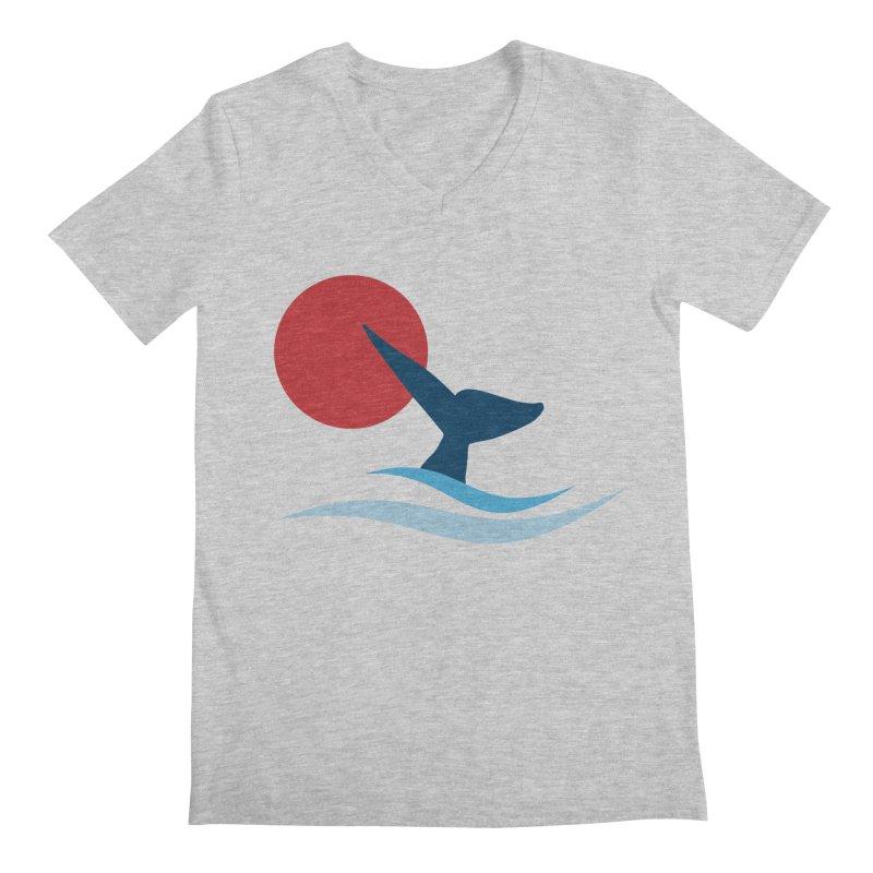 whale Men's V-Neck by sustici's Artist Shop