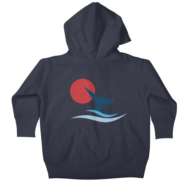 whale Kids Baby Zip-Up Hoody by sustici's Artist Shop