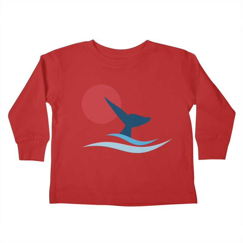 whale Kids Toddler Longsleeve T-Shirt by sustici's Artist Shop
