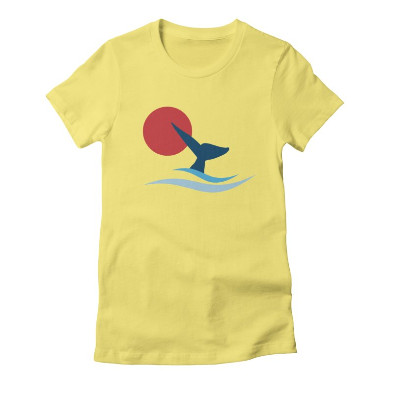 whale Women's Fitted T-Shirt by sustici's Artist Shop
