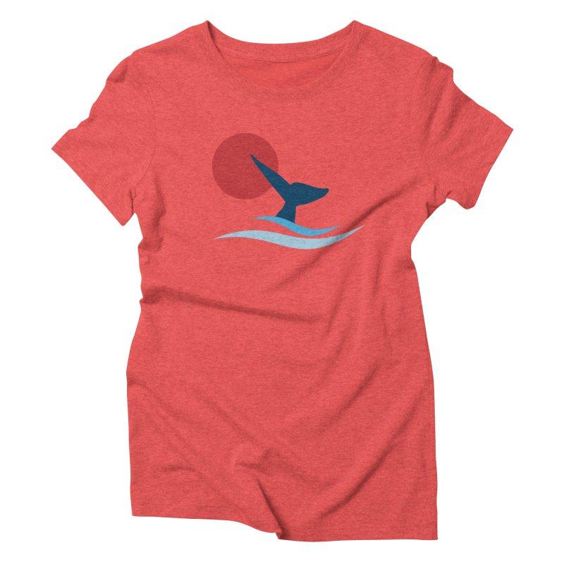 whale Women's Triblend T-shirt by sustici's Artist Shop