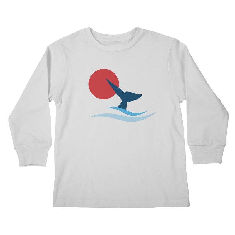 whale Kids Longsleeve T-Shirt by sustici's Artist Shop