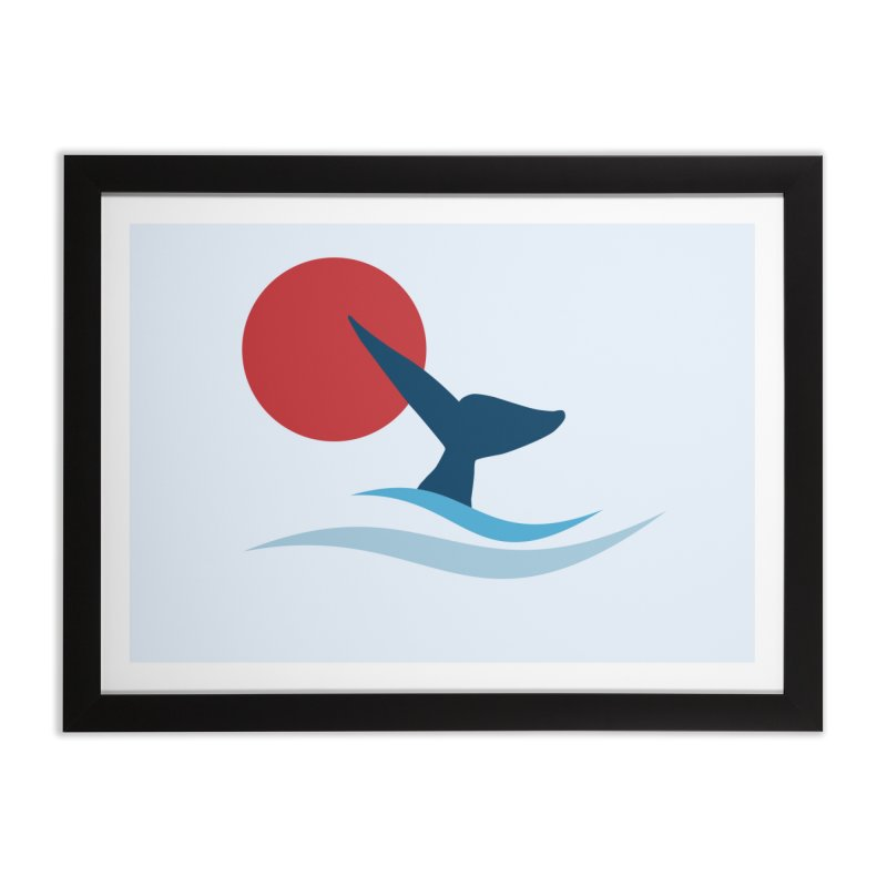 whale Home Framed Fine Art Print by sustici's Artist Shop