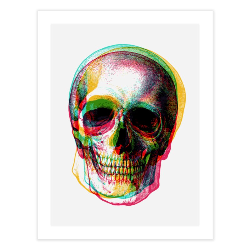 Colorfskull Home Fine Art Print by sustici's Artist Shop