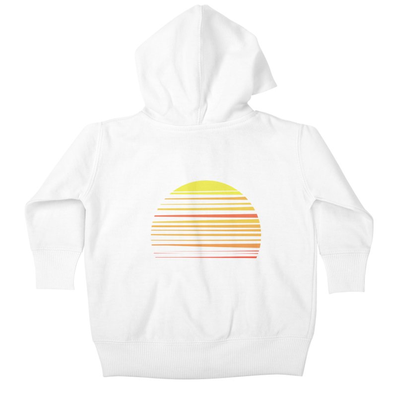 all summer long Kids Baby Zip-Up Hoody by sustici's Artist Shop