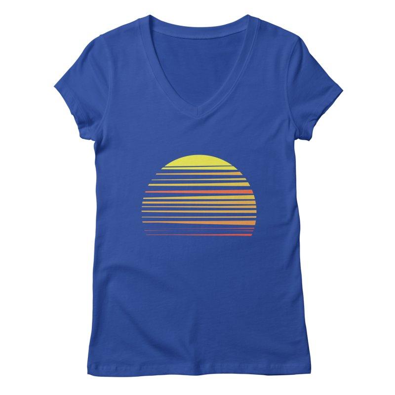all summer long Women's V-Neck by sustici's Artist Shop