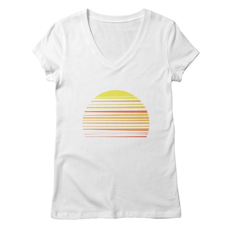 all summer long Women's V-Neck by sustici's Artist Shop