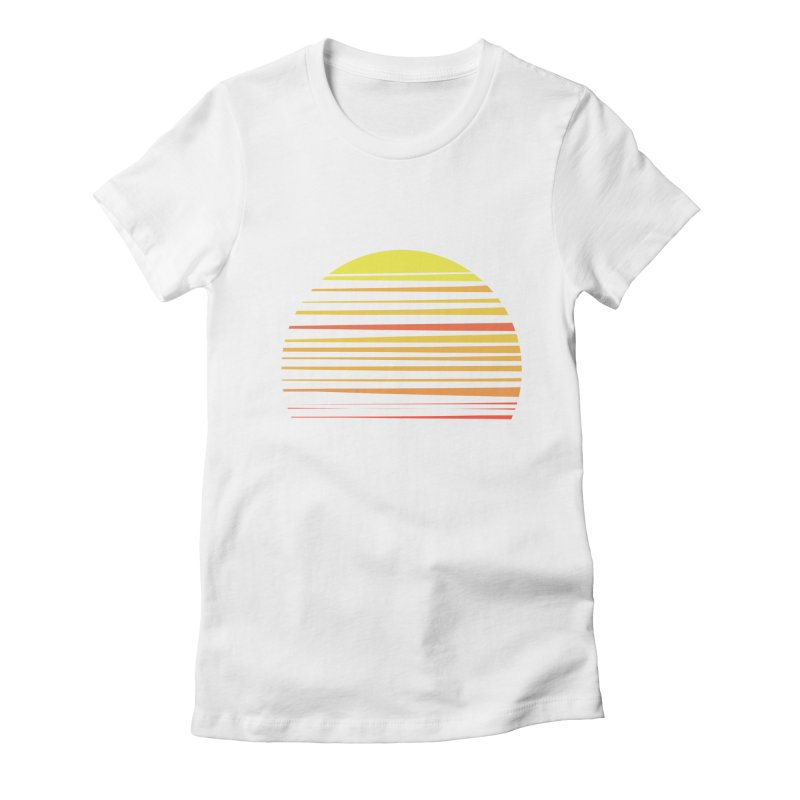 all summer long Women's Fitted T-Shirt by sustici's Artist Shop