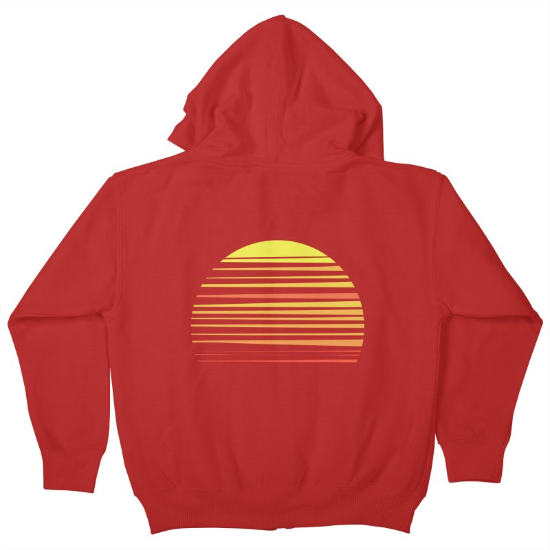 all summer long Kids Zip-Up Hoody by sustici's Artist Shop