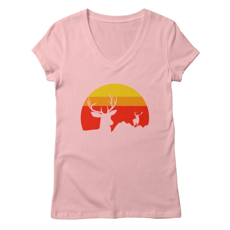 yellowstone Women's V-Neck by sustici's Artist Shop