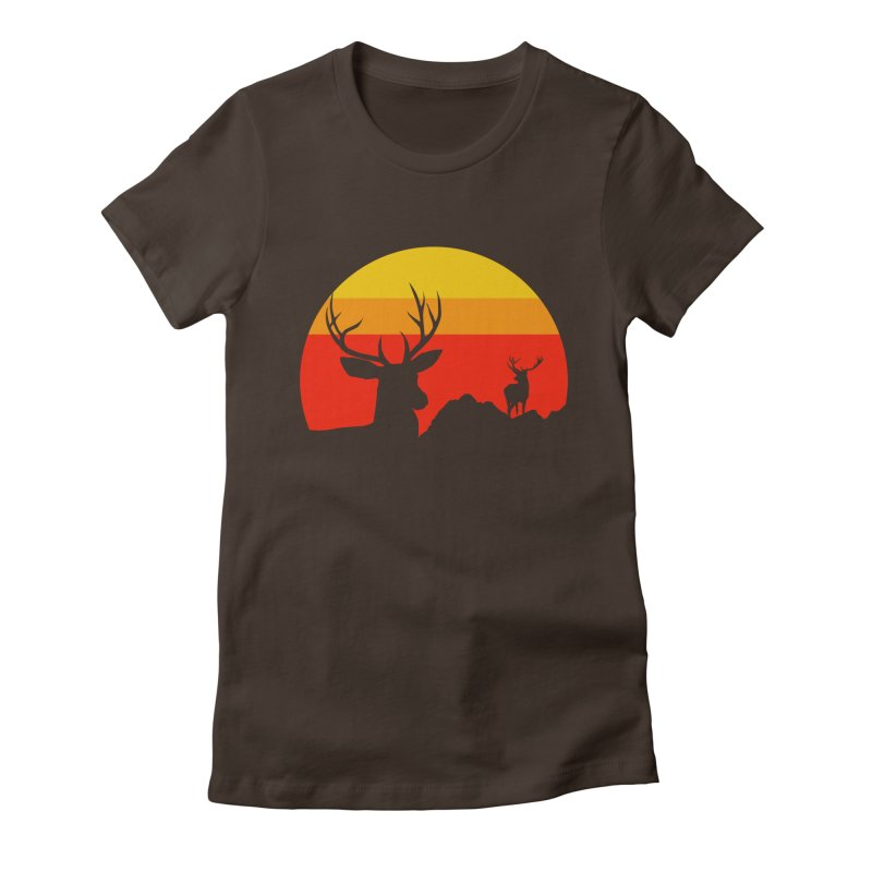 yellowstone Women's Fitted T-Shirt by sustici's Artist Shop