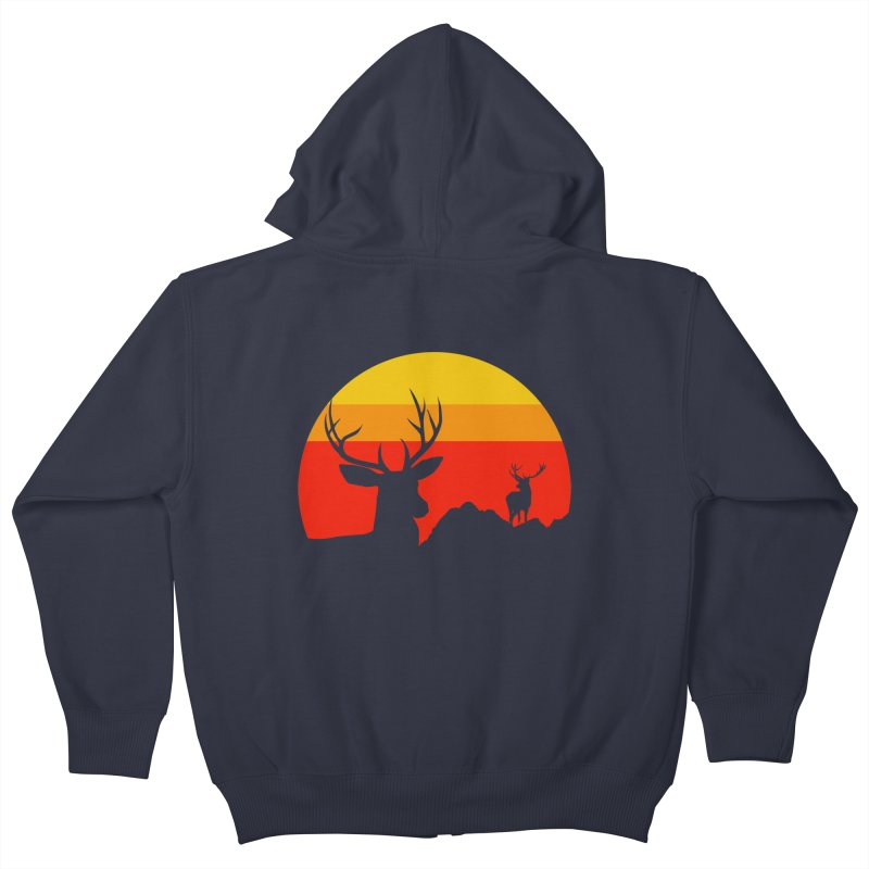 yellowstone Kids Zip-Up Hoody by sustici's Artist Shop