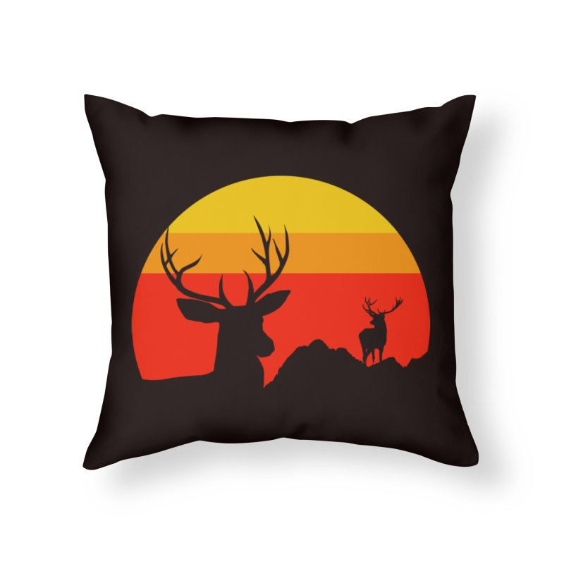 yellowstone Home Throw Pillow by sustici's Artist Shop