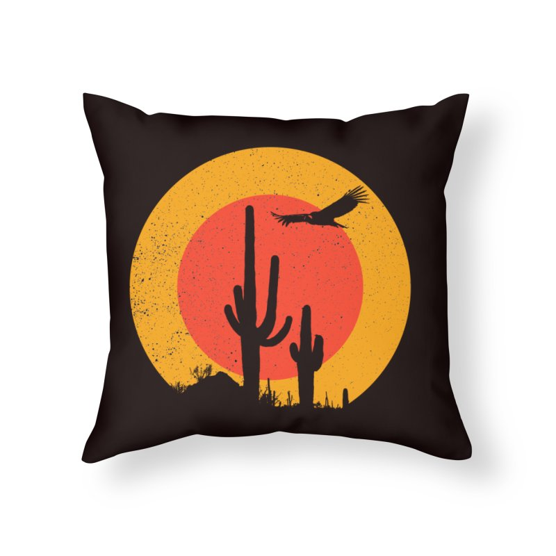 Death Valley Home Throw Pillow by sustici's Artist Shop