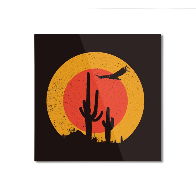 Death Valley Home Mounted Aluminum Print by sustici's Artist Shop