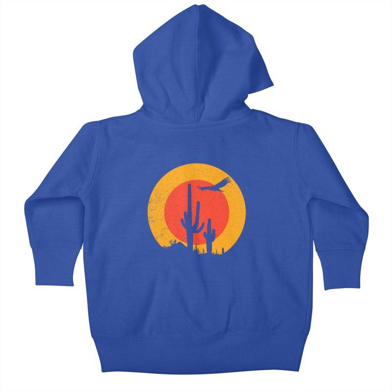 Death Valley Kids Baby Zip-Up Hoody by sustici's Artist Shop