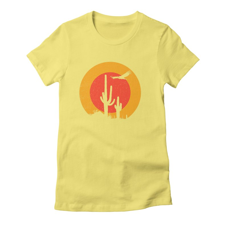 Death Valley Women's Fitted T-Shirt by sustici's Artist Shop