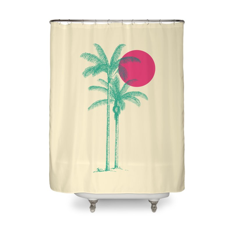 Palm Beach Home Shower Curtain by sustici's Artist Shop