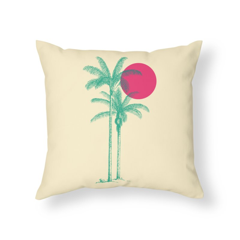 Palm Beach Home Throw Pillow by sustici's Artist Shop