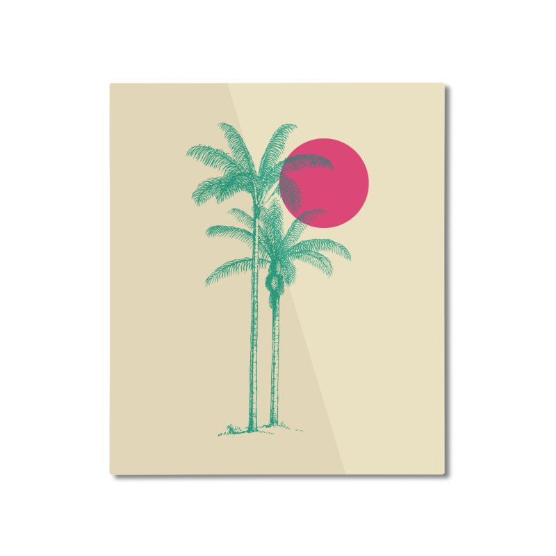 Palm Beach Home Mounted Aluminum Print by sustici's Artist Shop