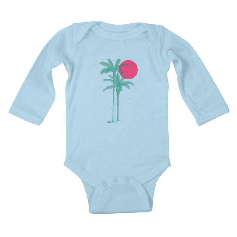 Palm Beach Kids Baby Longsleeve Bodysuit by sustici's Artist Shop