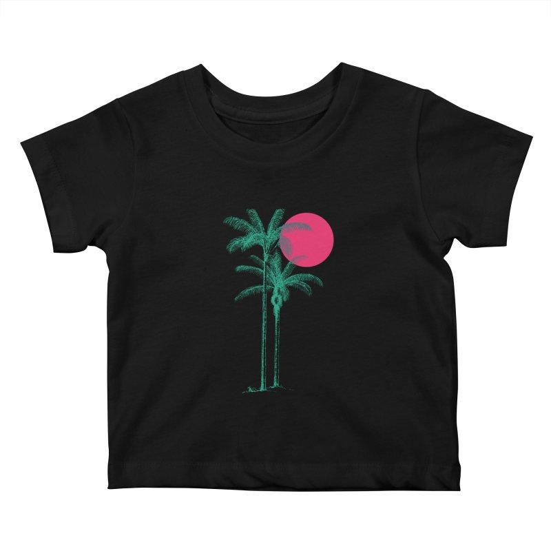 Palm Beach Kids Baby T-Shirt by sustici's Artist Shop