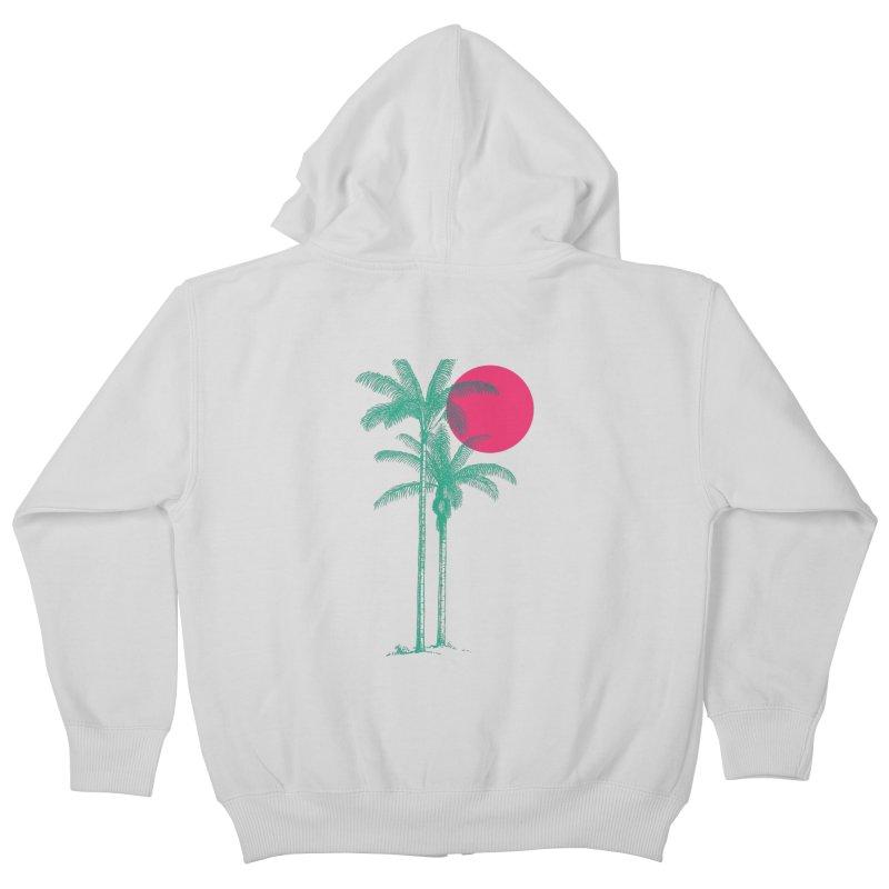 Palm Beach Kids Zip-Up Hoody by sustici's Artist Shop