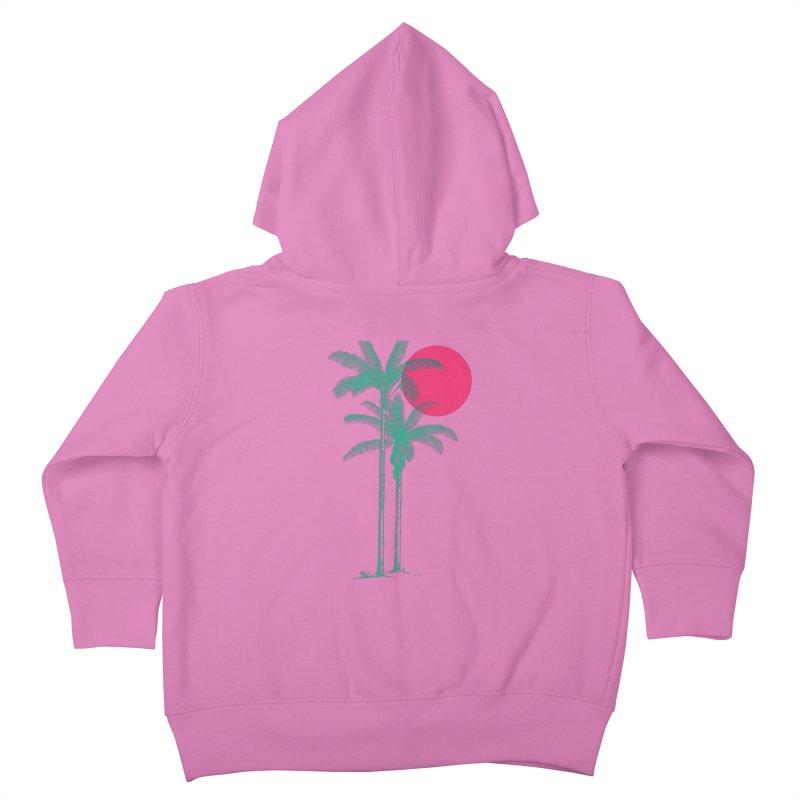 Palm Beach Kids Toddler Zip-Up Hoody by sustici's Artist Shop