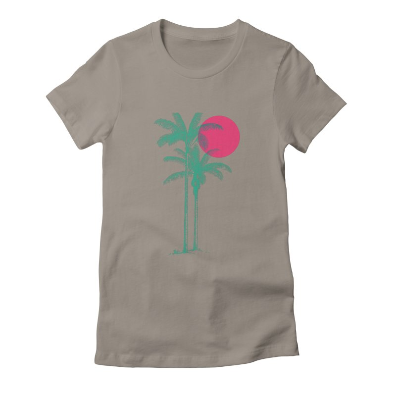 Palm Beach Women's Fitted T-Shirt by sustici's Artist Shop
