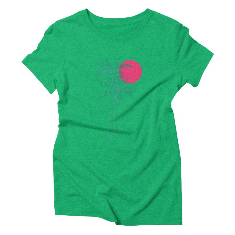 Palm Beach Women's Triblend T-Shirt by sustici's Artist Shop