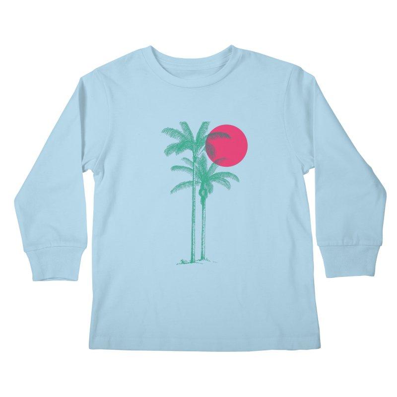Palm Beach Kids Longsleeve T-Shirt by sustici's Artist Shop