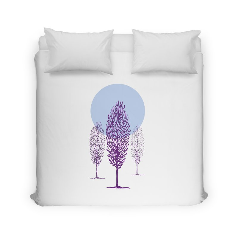 trees in the snow Home Duvet by sustici's Artist Shop