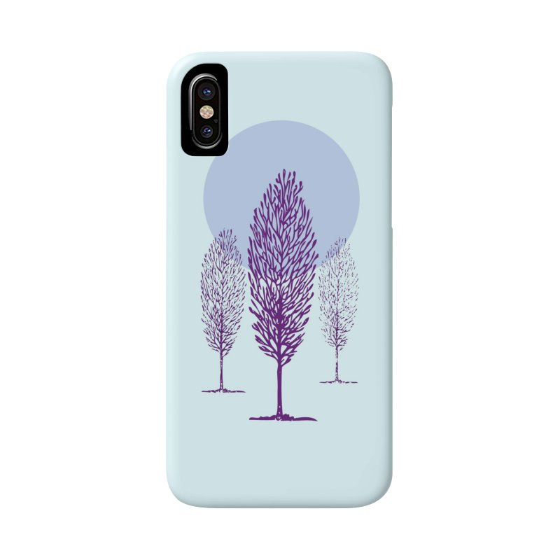 trees in the snow Accessories Phone Case by sustici's Artist Shop
