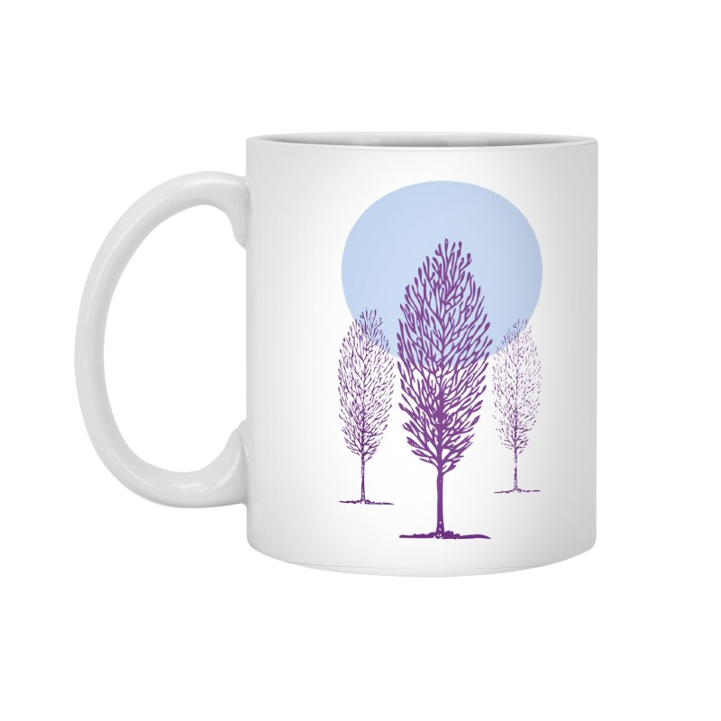 trees in the snow Accessories Standard Mug by sustici's Artist Shop