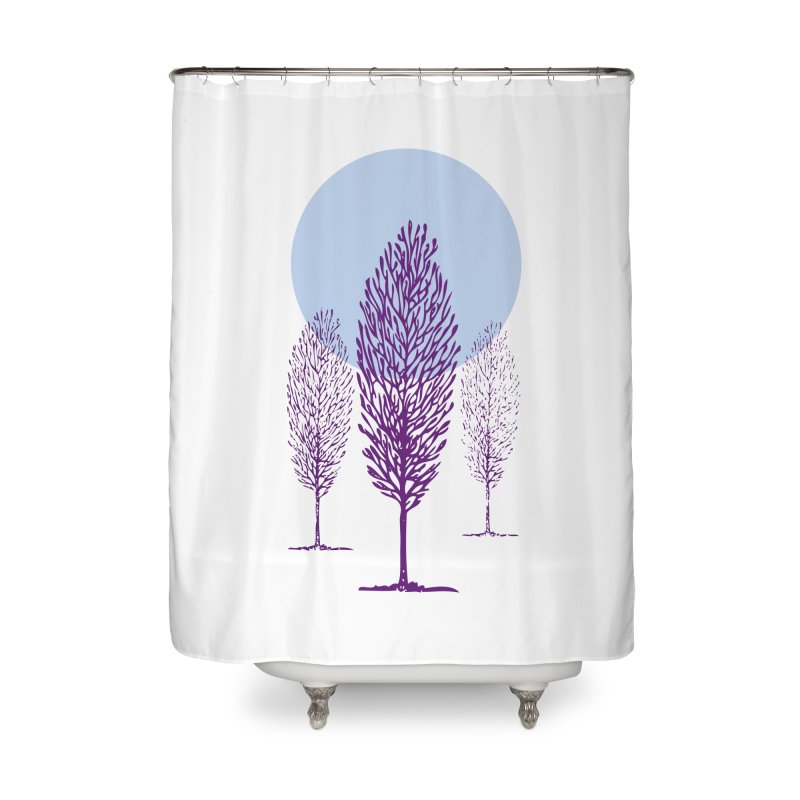 trees in the snow Home Shower Curtain by sustici's Artist Shop