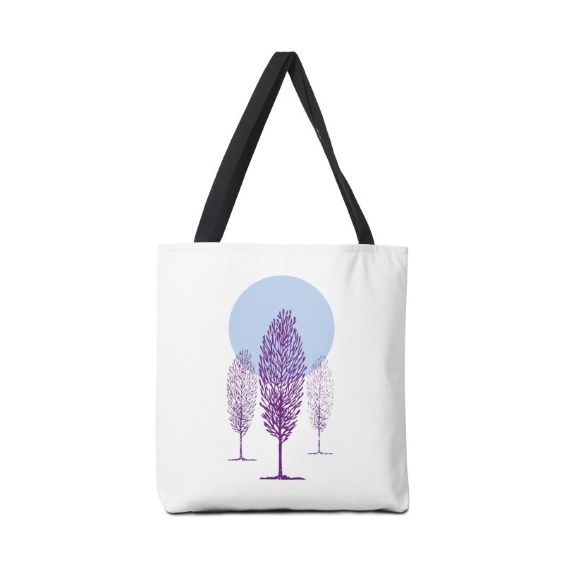 trees in the snow Accessories Bag by sustici's Artist Shop