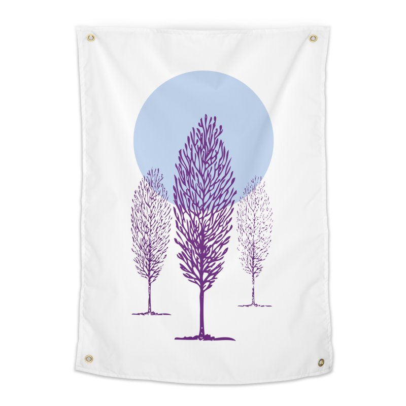 trees in the snow Home Tapestry by sustici's Artist Shop