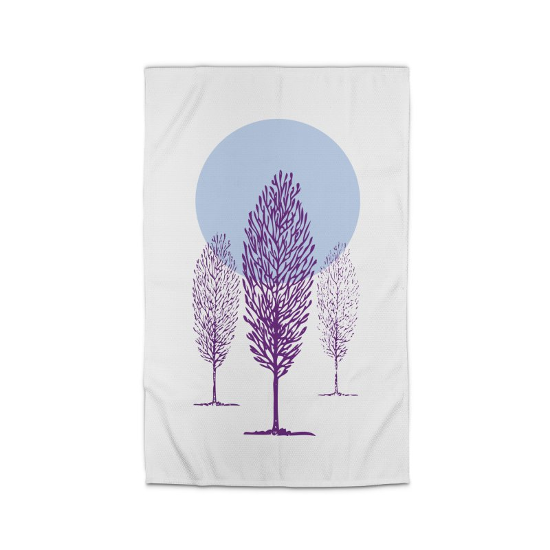 trees in the snow Home Rug by sustici's Artist Shop