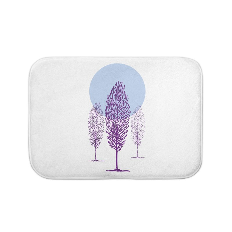 trees in the snow Home Bath Mat by sustici's Artist Shop