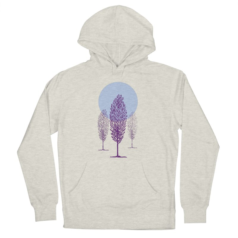 trees in the snow Men's Pullover Hoody by sustici's Artist Shop