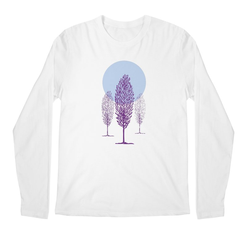 trees in the snow Men's Longsleeve T-Shirt by sustici's Artist Shop