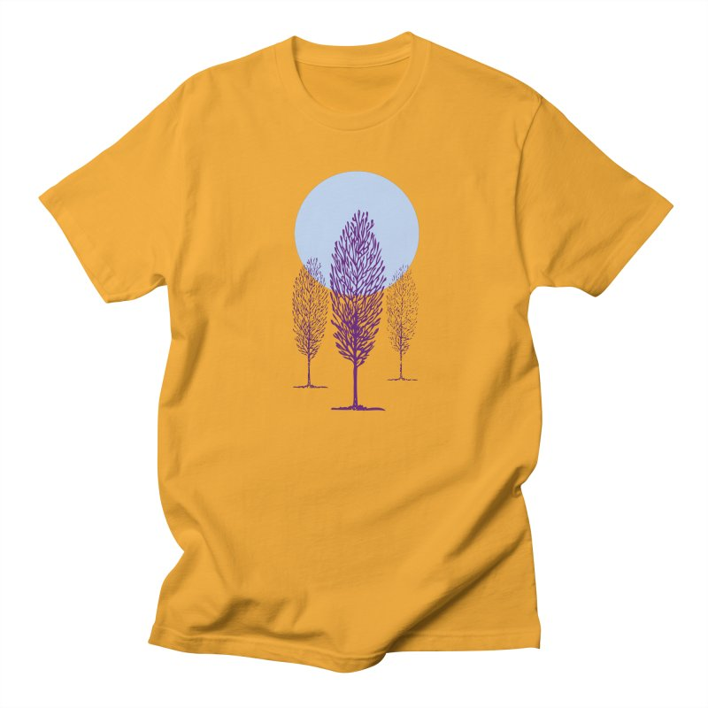 trees in the snow Men's T-Shirt by sustici's Artist Shop
